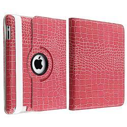 BasAcc Pink Crocodile Case/ Protector/ Headset/ Wrap for Apple iPad 2