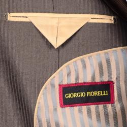 Men's Brown Striped Suit - Thumbnail 2