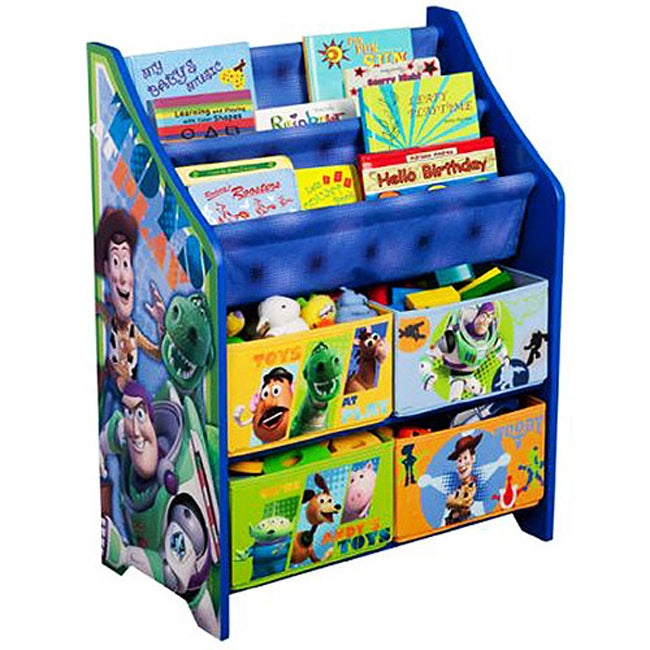 Princess Toys Box Storage Kids Girls Chest Bedroom Clothes: Disney's Toy Story Canvas Book/Toy Organizer