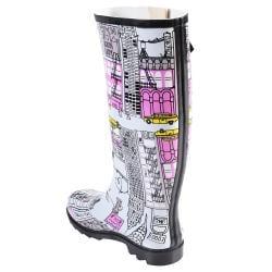 Hailey Jeans Co Women's 'Graphics' Print Rainboots - Thumbnail 1