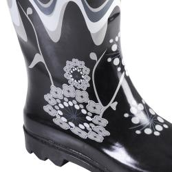 Hailey Jeans Co Women's 'Avon' Flower Print Rainboots - Thumbnail 2