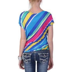 Journee Collection Junior's Short-sleeve Scoop Neck Knit Top