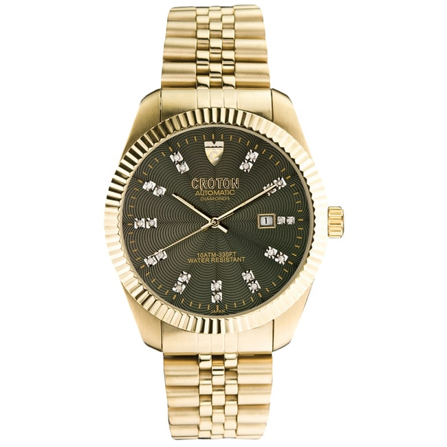 Croton Men's 'Croton' Stainless Steel Watch