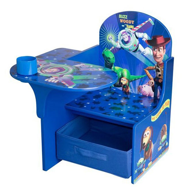 Disney Toy Story Desk and Chair with Storage Bin Free