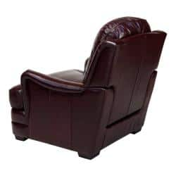 Groovy Giorgio Burgundy Leather Club Chair Purple Red Overstock Com Shopping The Best Deals On Living Room Chairs Beatyapartments Chair Design Images Beatyapartmentscom