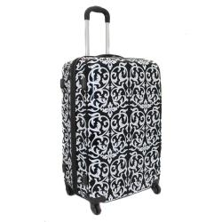 World Traveler Designer Prints Damask 3-piece Lightweight Hardside Spinner Luggage Set - Thumbnail 1