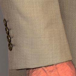 Men's Olive Teakweave 3-Piece Vested Suit