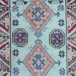 Indo Hand-knotted Kazak Light Green/ Beige Wool Rug (2' x 3') - Thumbnail 1