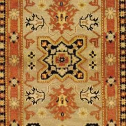 Indo Hand-knotted Kazak Beige/ Light Brown Wool Rug (3' x 5') - Thumbnail 1