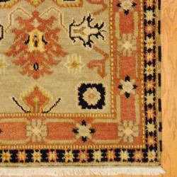 Indo Hand-knotted Kazak Beige/ Light Brown Wool Rug (3' x 5') - Thumbnail 2