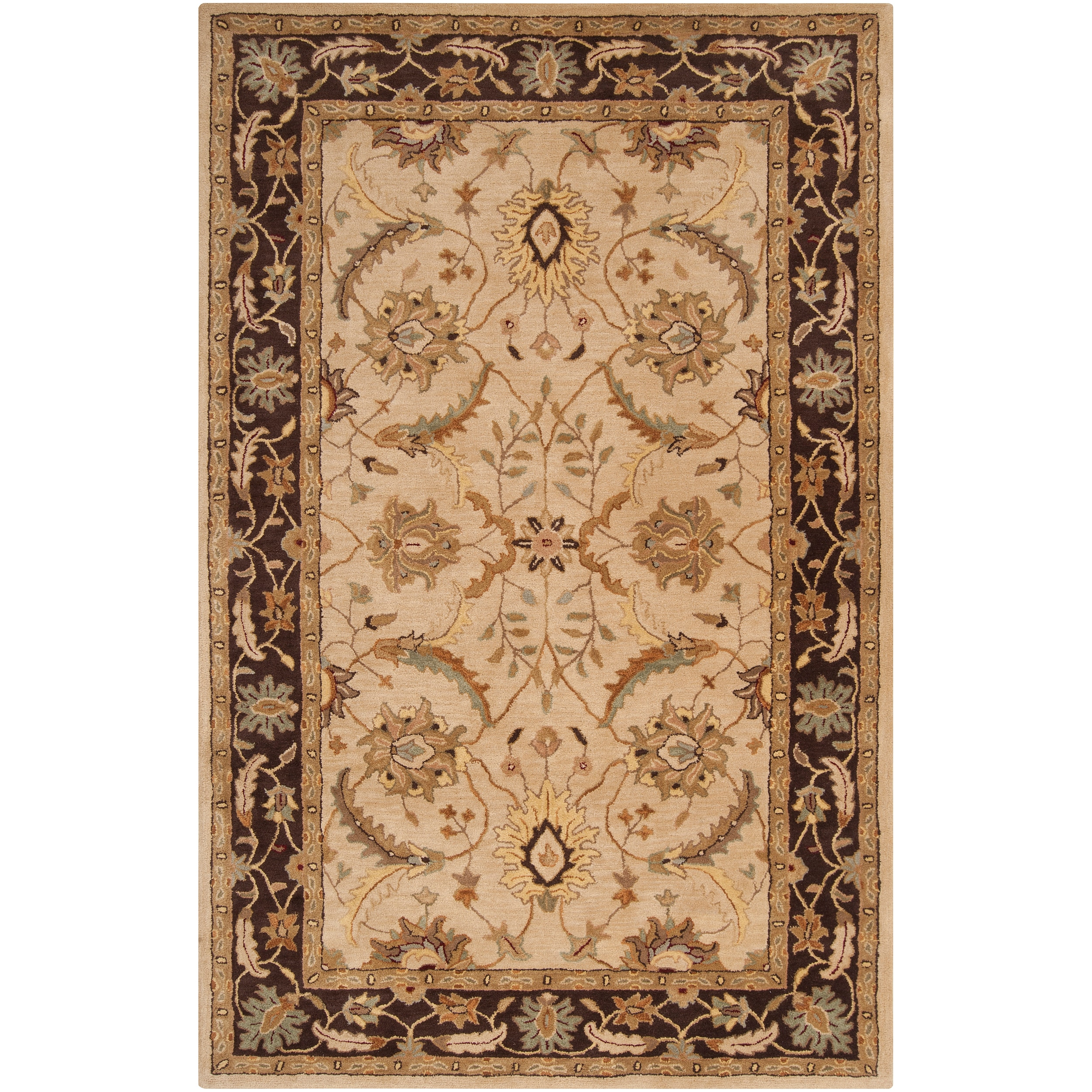 Hand-tufted Beige Clifford New Zealand Wool Area Rug - 8' x 11'