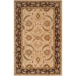 Hand-tufted Beige Clifford New Zealand Wool Rug (8' x 11')