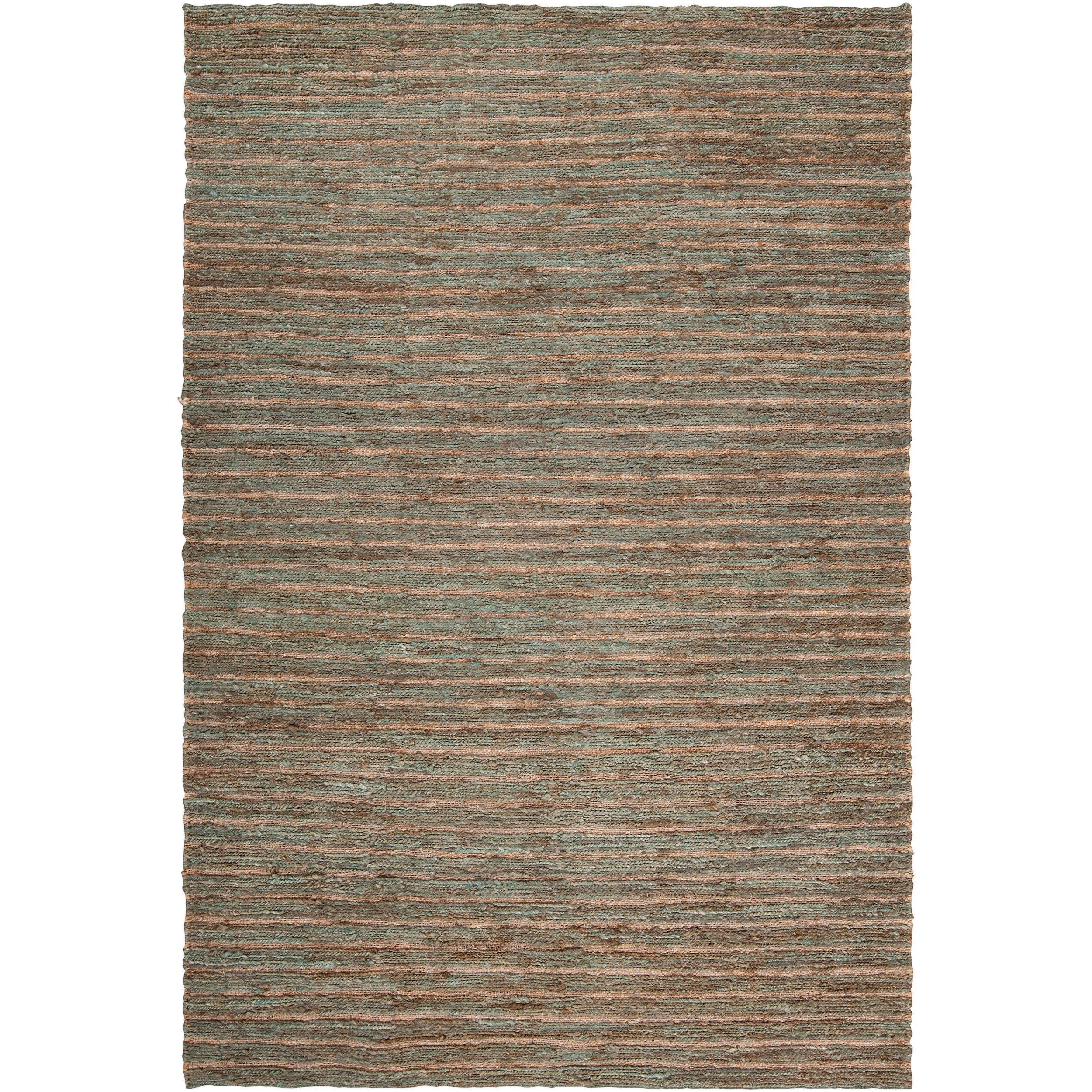 Hand-woven Red Doctate Natural Fiber Hemp Rug (8' x 11')