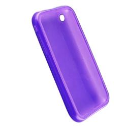 BasAcc Clear Purple TPU Rubber Case for Apple iPhone 3G/ 3GS - Thumbnail 1