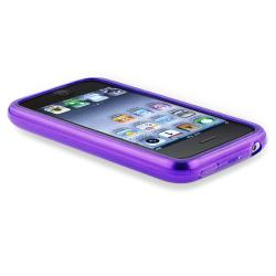 BasAcc Clear Purple TPU Rubber Case for Apple iPhone 3G/ 3GS - Thumbnail 2