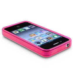 BasAcc Clear Hot Pink TPU Rubber Skin Case for Apple iPhone 4 AT&T