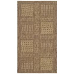 Safavieh Poolside Brown/ Natural Indoor Outdoor Rug (2' x 3'7)