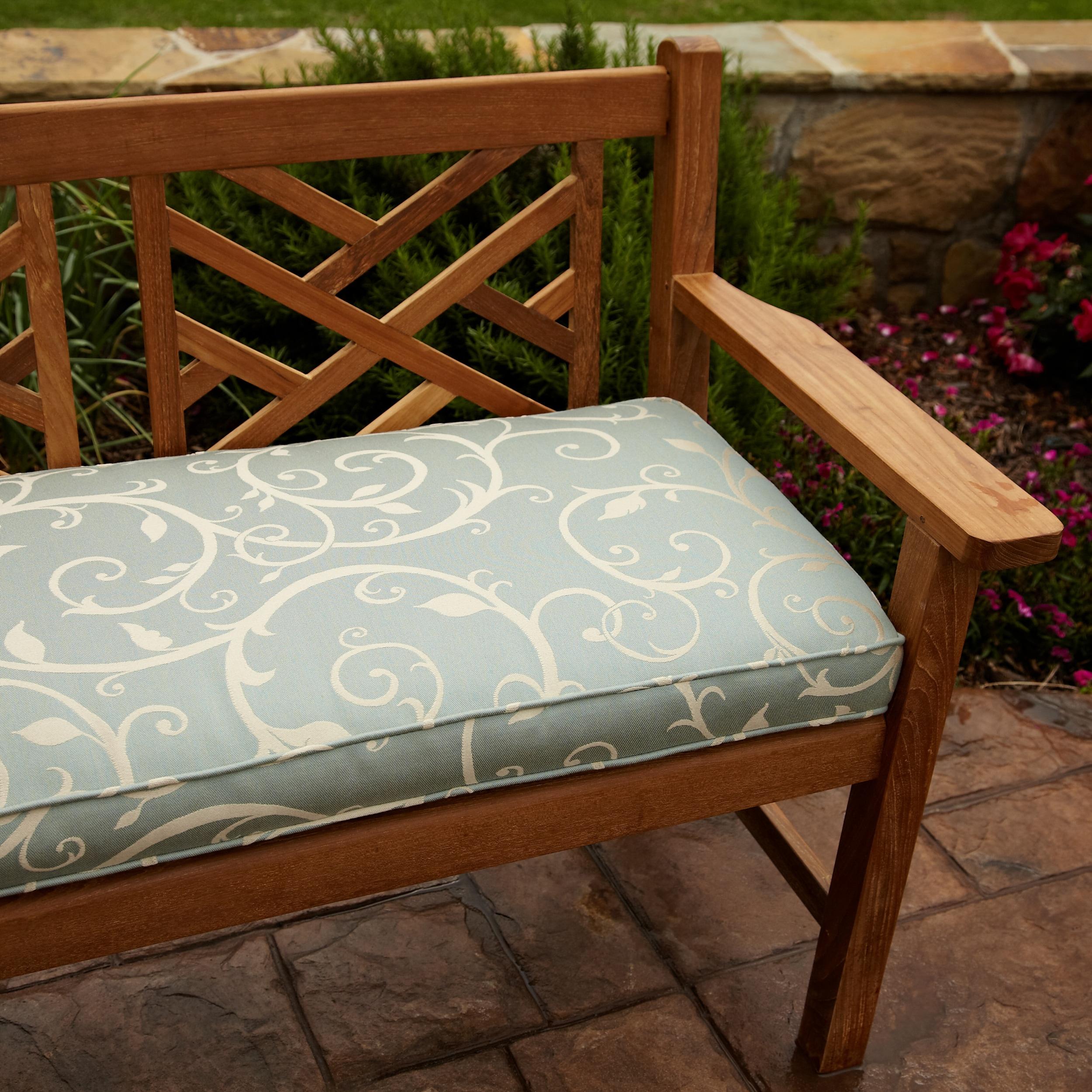 Clara Blue 48-inch Outdoor Sunbrella Bench Cushion