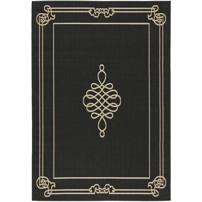 Shop Safavieh Courtyard Classic Black Cream Indoor