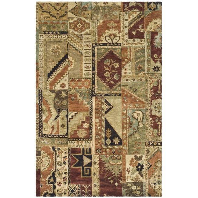 Safavieh Handmade Patchwork Multi Hand-spun Wool Rug (5' x 8')