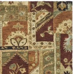 Safavieh Handmade Patchwork Multi Hand-spun Wool Rug (5' x 8') - Thumbnail 1