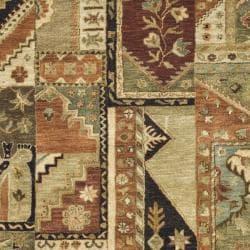 Safavieh Handmade Patchwork Multi Hand-spun Wool Rug (5' x 8') - Thumbnail 2