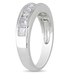 Miadora 14k White Gold 1ct TDW Diamond Anniversary Ring (G-H, I1)