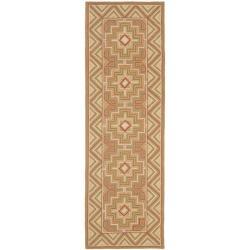 Safavieh Hand-hooked Maze Beige Wool Rug (2'6 x 12')