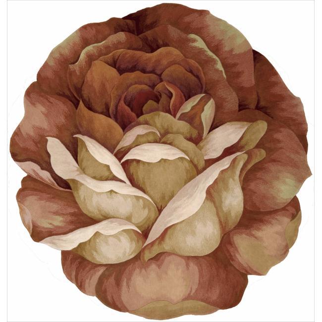 Nourison Hand-tufted Multi Bloom Rug (4' x 4')