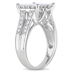 14k White Gold 1ct TDW Princess-cut Diamond Ring - Thumbnail 1