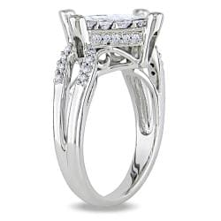Miadora 14k White Gold 1ct TDW Princess-cut Diamond Ring (G-H, I1-I2)