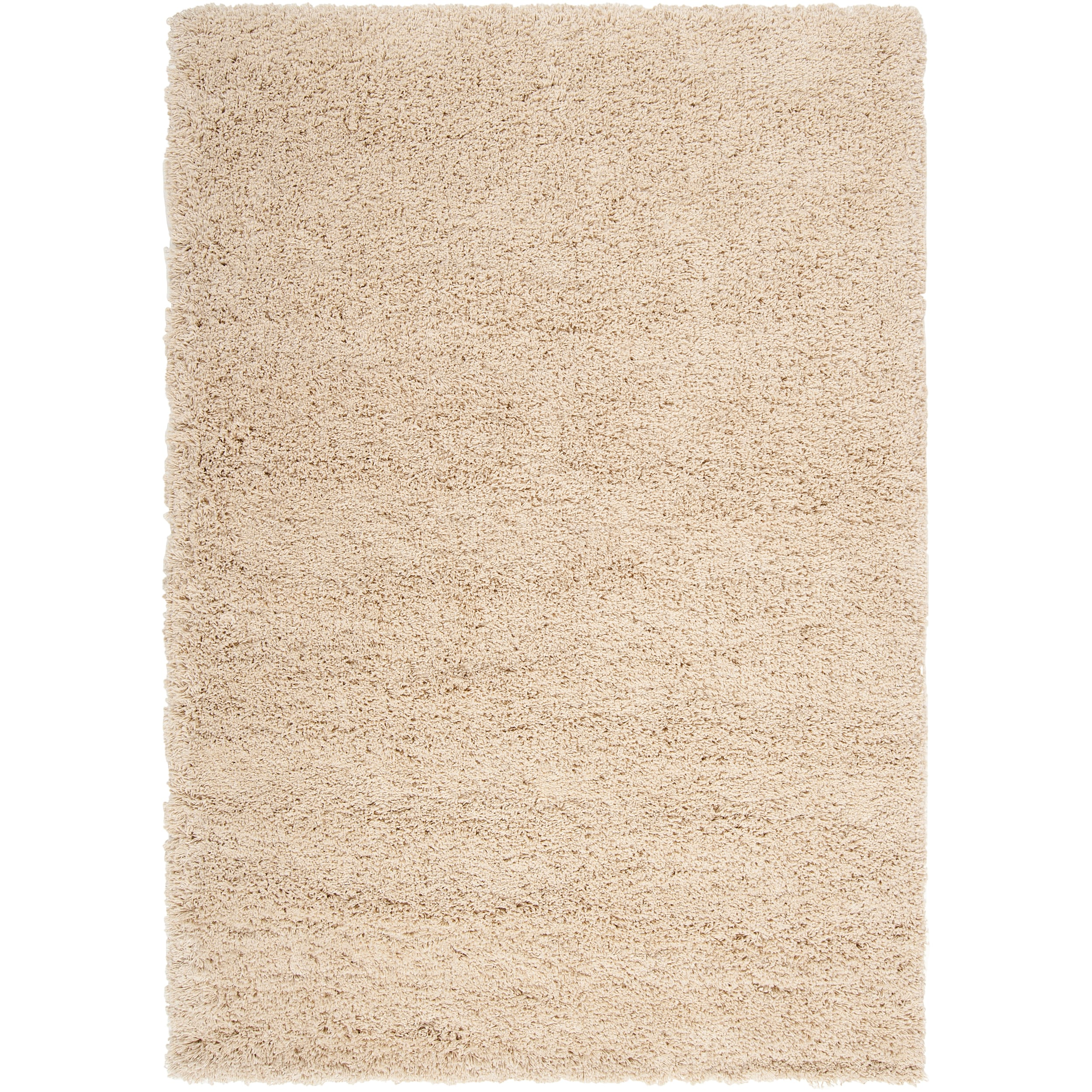 Woven White Luxurious Soft Shag Rug (6'7 x 9'6)