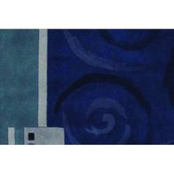 Nourison Hand-tufted Dimensions Blue Rug (8' x 11')