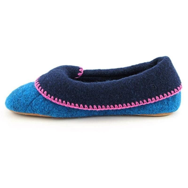 Acorn Women's Cloudia Blue Slippers (Size 11)