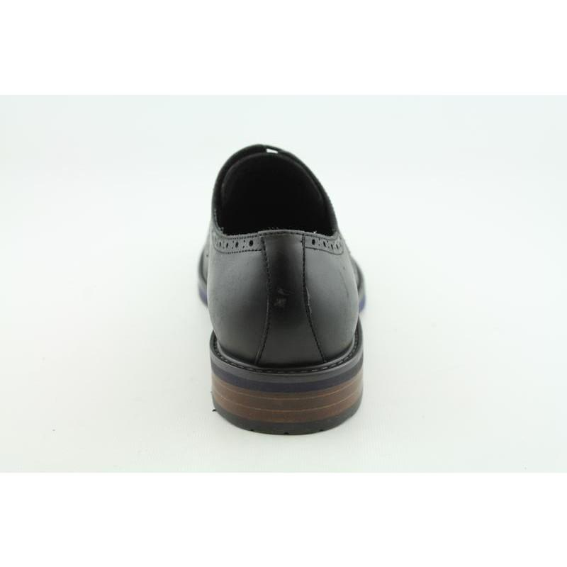 Kenneth Cole Reaction Men's Neat-ly Together Black Dress Shoes - Thumbnail 1