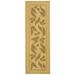 Safavieh Ferns Natural/ Olive Green Indoor/ Outdoor Rug (2'4 x 9'11)