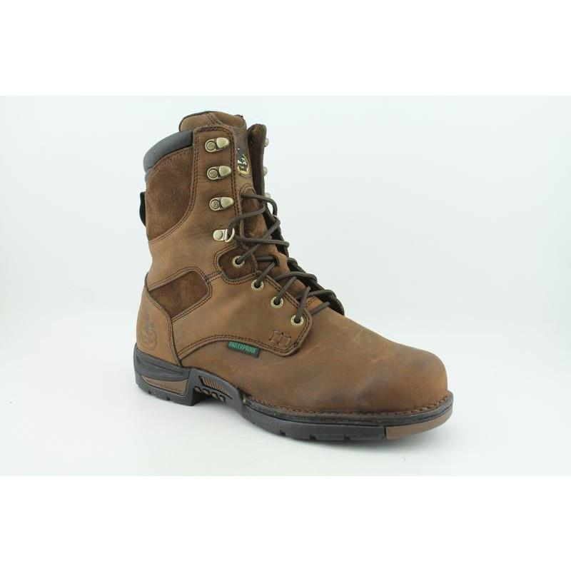 """Georgia Men's G8453 8"""" GWP Work Athens Browns Boots"""