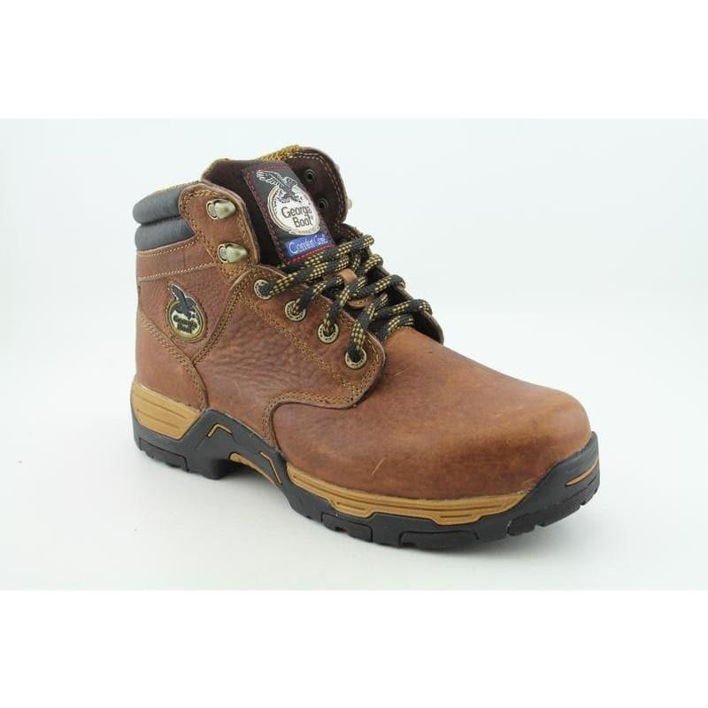 "Georgia Men's G6425 6"" Work ST Diamond Trax Browns Boots"
