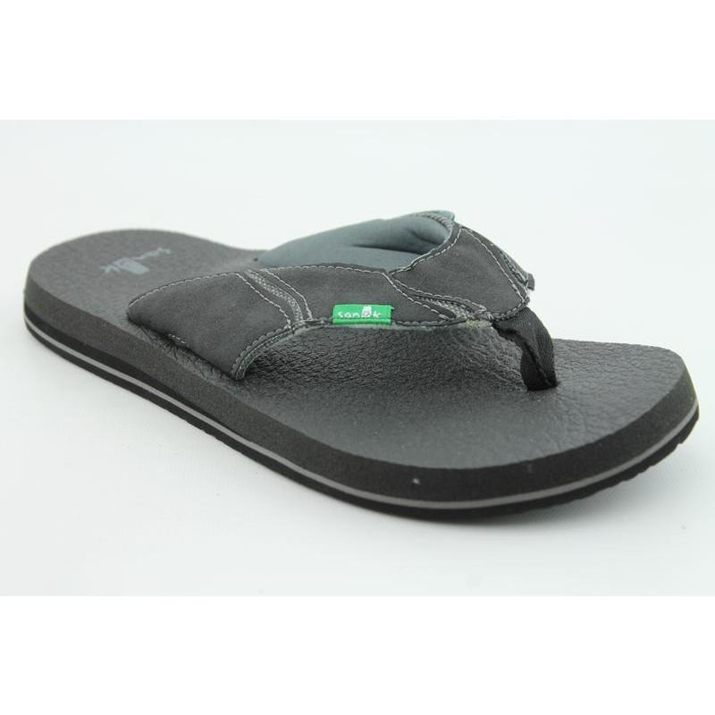 Sanuk Men's Fault Line Black Sandals