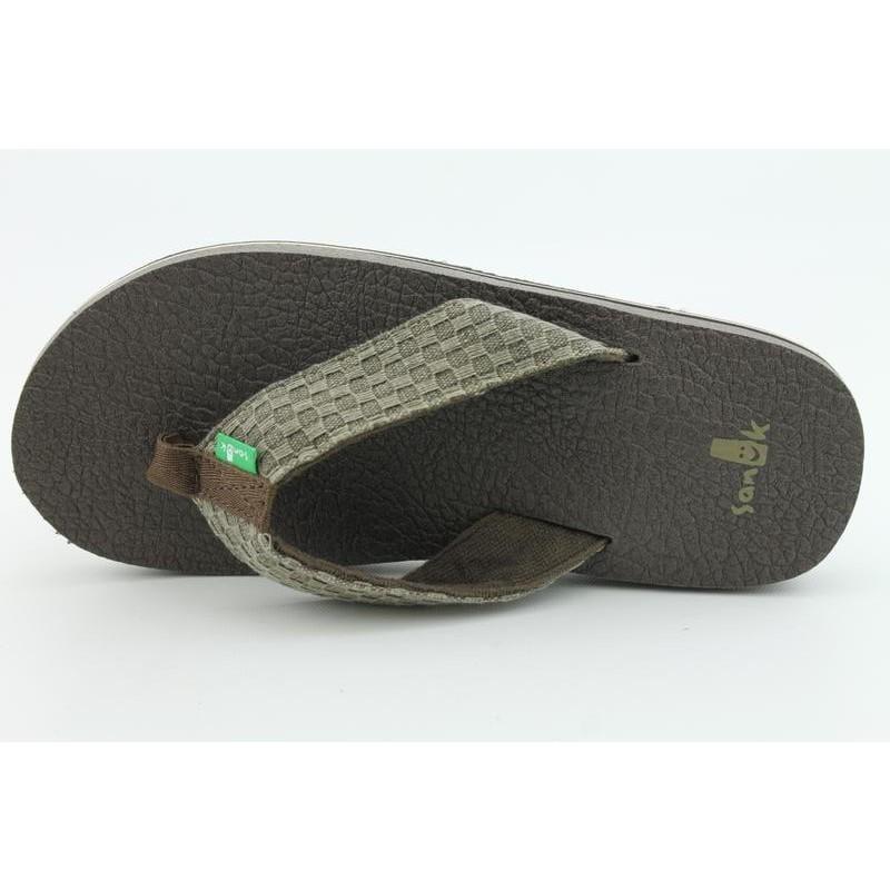 Sanuk Men's Yogi II Brown Sandals - Thumbnail 2