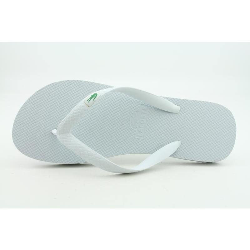 5553a7191c2171 Shop Lacoste Men s Barona White Sandals - Free Shipping On Orders ...