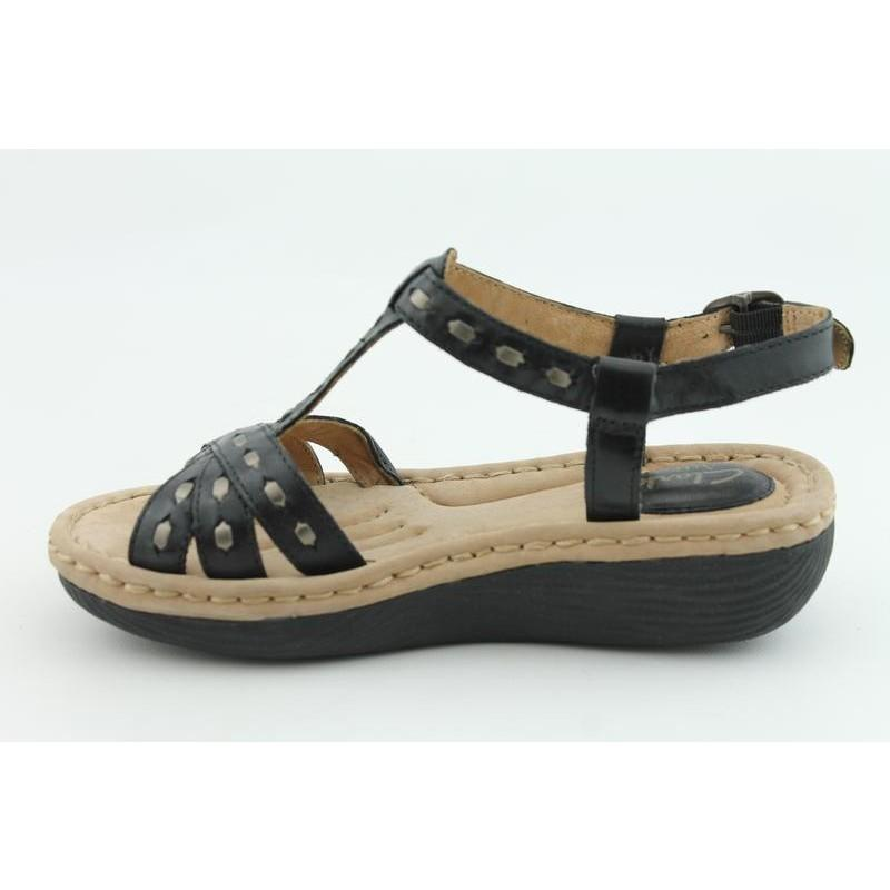 Clarks Artisan Women's Latin Vine Black Sandals (Size 7)