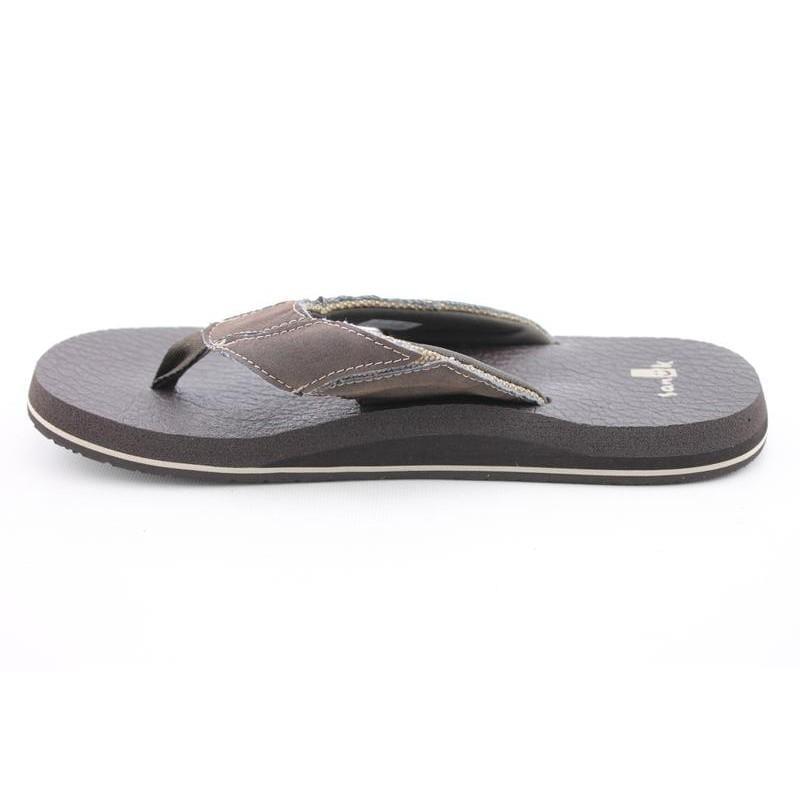 Sanuk Men's Fault Line Brown Sandals