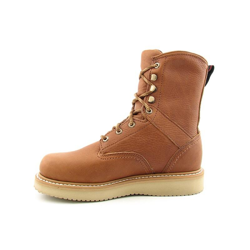 GEORGIA Men's G8152 8-inch Wedge Brown Boots