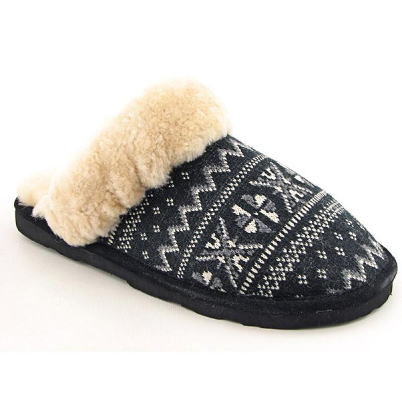 Bearpaw Women's Donner Slipper Black Slippers (Size 10)