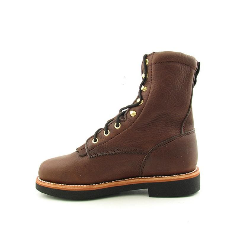 "GEORGIA Men's G7014 8"" Lacer Brown Boots - Thumbnail 1"