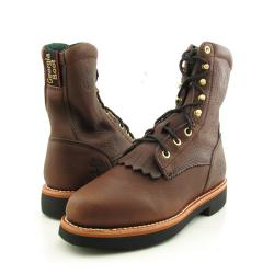 """GEORGIA Men's G7014 8"""" Lacer Brown Boots"""