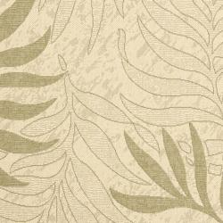 Safavieh Poolside Cream/ Green Indoor Outdoor Rug (4' x 5'7) - Thumbnail 2