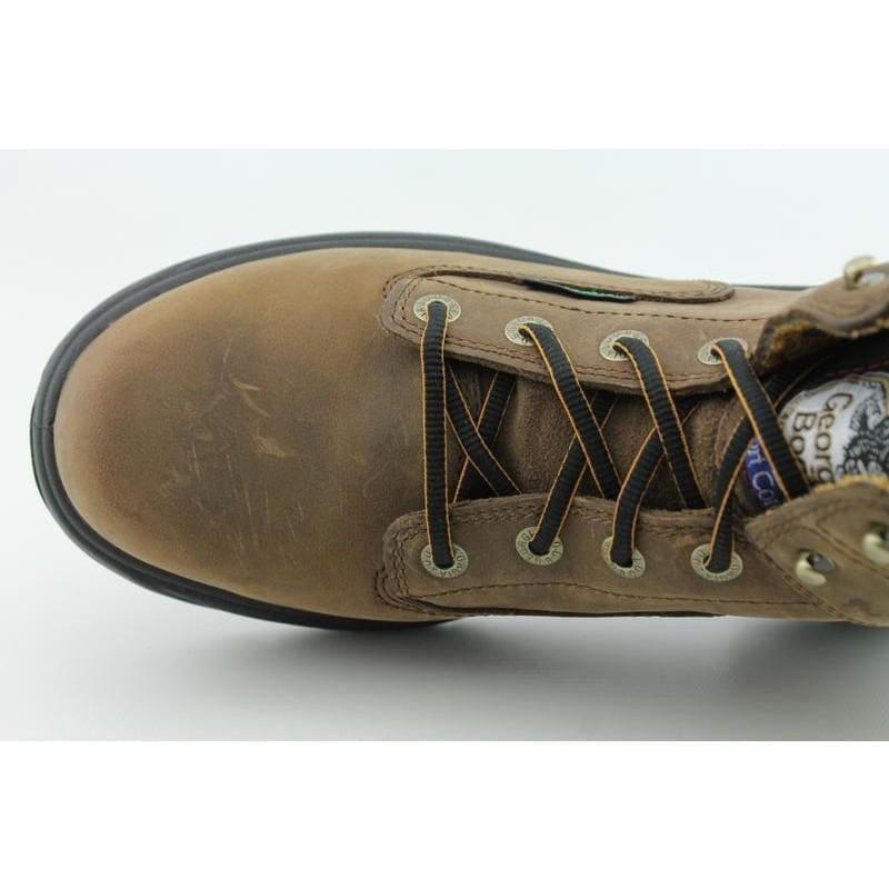 "Georgia Men's 6"" FLX Point Brown Boots (Size 7.5)"