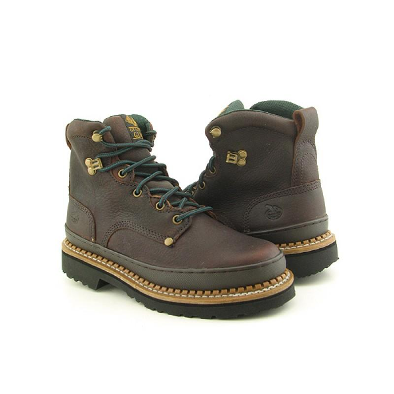 "GEORGIA Men's 6274 6"" Giant Brown Boots - Thumbnail 0"